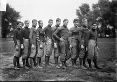 Football team, North Division High School, 1905, Chicago, Illinois. Photograph by Chicago Daily News, Inc.