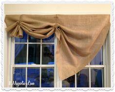 Tutorial: How To Make A No Sew DIY Burlap Window Valance