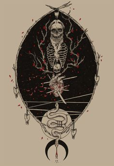 Grow by Adrian Baxter, via Behance #drawing #illustration #skeleton #skull