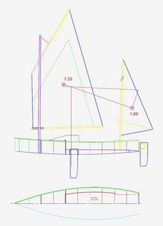 https://flic.kr/s/aHsj2Dfvqj | RAID41 Expedition Cruising Dinghy | This is a boat design and plan I am currently working on.  A single person distance cruising boat.  I am hoping it will be light enough to get onto a car roof rack.  Originally it was conceived as an expedition sailing boat that was within the strength of one person on shore and on the water.  It had to carry gear for longer trips and maybe one other person for daysailing.  At some point we thought it would be fun to use in…