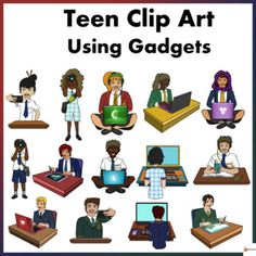 Teens Using Gadgets in Uniform Clip Art by A Plus Learning School Resources, Teaching Resources, Classroom Resources, Teaching Ideas, Classroom Ideas, I School, School Classroom, School Stuff, Classroom Displays