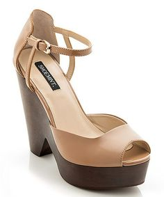 Another great find on #zulily! Nude Hellin Peep-Toe Pump #zulilyfinds