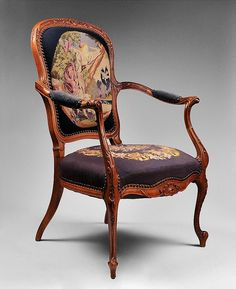 Louis XV Style Needlepoint Fauteuil or Armchair