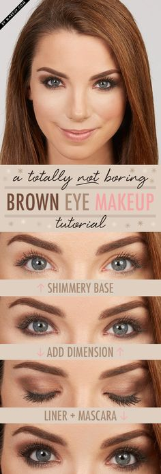A Totally NOT Boring Brown Eye MakeupTutorial - this look is so easy to do! #lazygirlbeauty #browneyemakeup