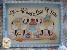 You+me+and+a+cup+of+tea+Painting+E-pattern+by+IleniaChiodini