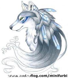 lobos de perfil dibujos - Buscar con Google