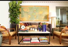 20 Perfect Family Rooms | Photos | HGTV Canada - Love the idea of storing books under an oversized coffee table.