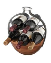 Nambe Wine Rack, Anvil Wood Wine Basket  $225.00