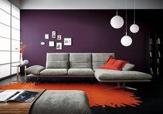 Design polstersofas oruga leicht  moderne polstermöbel wohnzimmer weiß ecksofa modular grüner teppich ...
