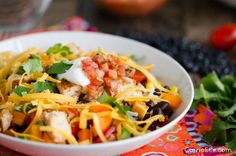 There are so many things to love about this recipe. These 21 Day Fix Chicken Burrito Bowls, which were created by my friend Chellie over at Art From My Table, are super healthy and full of whole foods. Also, they're kid-friendly. Because of the nature of this recipe, you can add what you want to your burrito bowl and leave out the things you don't want...perfect for pickyeaters! Also, because this recipe is deconstructed, it's really easy to figure out your container counts if yo...