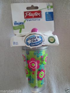 Playtex Baby Insulator Spill-Proof Cup Twist 'n Sippy Cup BPA Free Stage 3