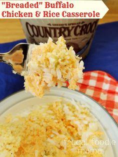 Buffalo Chicken & Rice Casserole
