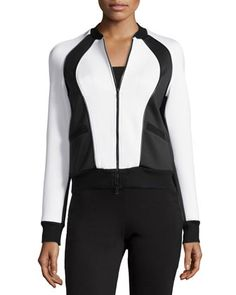 Scuba Bomber Jacket, Black/White by X by Gottex at Neiman Marcus Last Call.