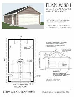 Garage addition plans attached 2 car garage addition for Detached garage with bonus room plans