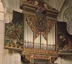 Chamber organ in the gothic Hofkirche, Innsbruck, Austria, photo by Diane Bish, via Flickr