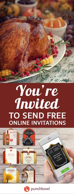 Paper invites are too formal, and emails are too casual. Get it just right with online invitations from Punchbowl. We've got everything you need for your Thanksgiving party.    https://www.punchbowl.com/online-invitations/v/f/thanksgiving?cat_header=true?utm_source=Pinterest&utm_medium=124.3P
