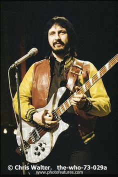 John Entwistle of The Who.....DIED AT THE AGE OF 57 DUE TO A COCAINE OVERDOSE.......SO SAD HE WAS GONE BEFORE HIS TIME.
