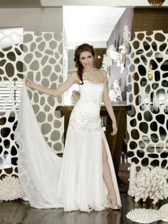JASONGRECH White - Drop-waist Wedding Dresses