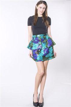 Peplum Florals Skirt