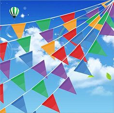 200 Pcs Multicolor Pennant Banner Flags,IsPerfect 250 Ft ... https://www.amazon.com/dp/B01I4MJH0O/ref=cm_sw_r_pi_dp_x_S6t1ybKHE3WZ5