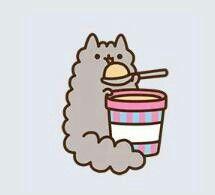 stormy the kitten eats ice cream (?)