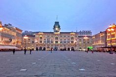 Trieste, piazza dell'Unità, one of the most beautiful squares in Italy Trieste, Like A Local, Italy Travel, Fresh Water, Pond, Paths, Swimming Pools, Most Beautiful, Villa