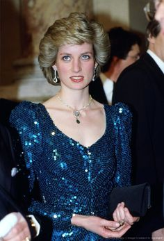 Princess Diana attends a gala at the Vienna Burgh Theatre du