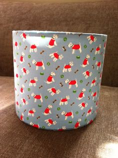 Lamp shade 20cm drum Stanley dog fabric for a table lamp (UK fitting) £20.00