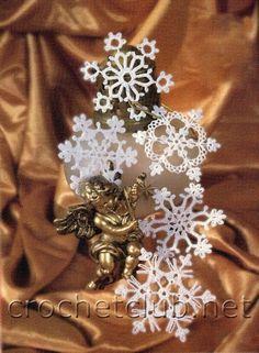 fiocchi di neve uncinetto   Hobby lavori femminili - ricamo - uncinetto - maglia