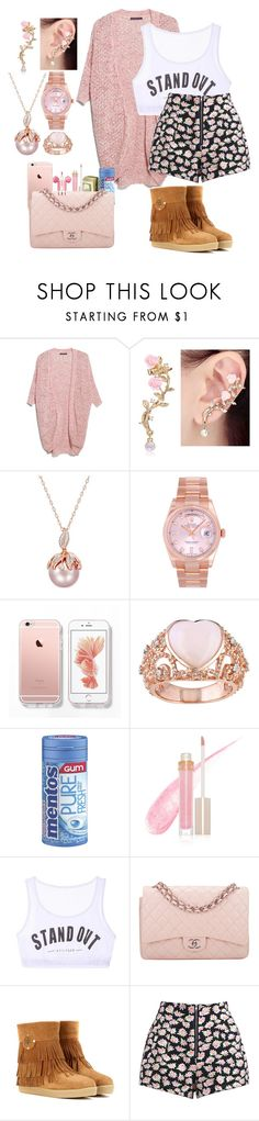 """""""Untitled #243"""" by jv-cutie2fly ❤ liked on Polyvore featuring Violeta by Mango, Rolex, Stila, Chicnova Fashion, Chanel, Tory Burch and PhunkeeTree"""
