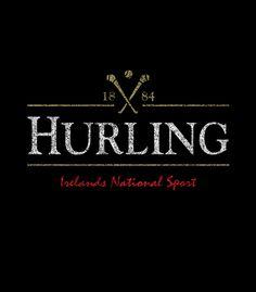 Hurling custom T-Shirt design based on the Guinness beer logo.