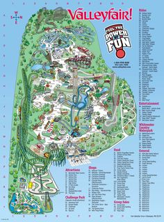 Valleyfair Map.  I love valley fair lots of fun days here