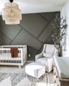 Baby Nursery Decor, Baby Decor, Nursery Room, Nursery Accent Walls, Project Nursery, Wood Wall Nursery, Nursery Modern, White Nursery, Baby Nursery Ideas For Boy