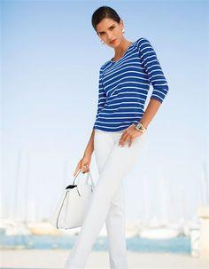 Shirt, Jeans mit geradem Bein