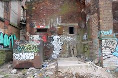 a derelict warehouse in Nottingham