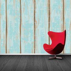 Fotobehang Houten planken | Maak het jezelf eenvoudig en bestel fotobehang voorzien van een lijmlaag bij YouPri om zo gemakkelijk jouw woonruimte een nieuwe stijl te geven. Voor het behangen heb je alleen water nodig!   #behang #fotobehang #print #opdruk #afbeelding #diy #behangen #planken #plank #hout #houten #blauw