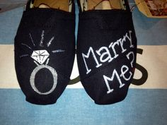 Marriage Proposal / Engagement Custom TOMS Shoes. this would make me happy kinda.....oneday maybe, cause shoes are the best