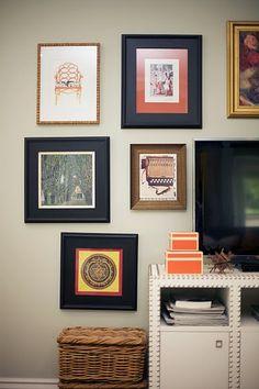 wall colors, tv walls, frame, blank walls, gallery walls, galleri wall, family rooms, bohemian style, art walls