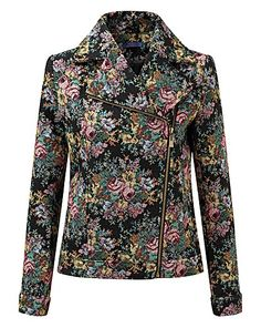 Joe Browns tapestry biker jacket | Simply Be