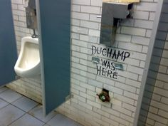 Duchamp Was Here |        This image has been making the rounds on Pinterest lately and I couldn't resist sharing. It's absolutely brilliant. Unfortunately, I don't know who the creative mind behind this was, but it was found on The Wooster Collective.