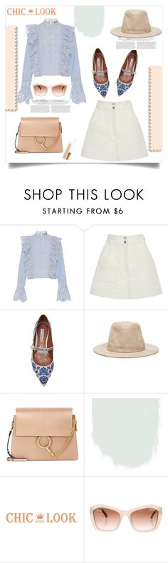 """""""Soft Pallets"""" by lidia-solymosi ❤ liked on Polyvore featuring Sea, New York, TIBI, Tabitha Simmons, Maison Michel, Chloé and Chanel"""