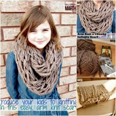 clever arm knitting projects...even for kids                                                                                                                                                                                 More