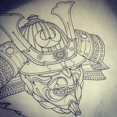 """ถูกใจ 535 คน, ความคิดเห็น 8 รายการ - Maxim Kislitsyn (@max_titanic) บน Instagram: """"Again and again #samuraihelmet #maximtitanic #madfishtattoo #sketch #tattoosketch #tattoo #tattoos…"""""""