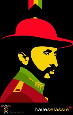 Emperor Haile Selassie 1 of Ethiopia Bob Marley Kunst, Bob Marley Art, Reggae Rasta, Rasta Art, Rasta Tattoo, Rastafari Art, Rastafarian Culture, Haile Selassie, Lion Of Judah