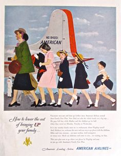 1950s Vintage Ad AMERICAN AIRLINES Vintage by ACMEVintageLimited, $8.50