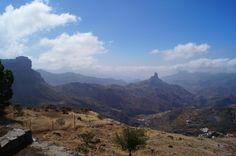 #Roque #Nublo am Horizont auf #Gran #Canaria, #Fotografie