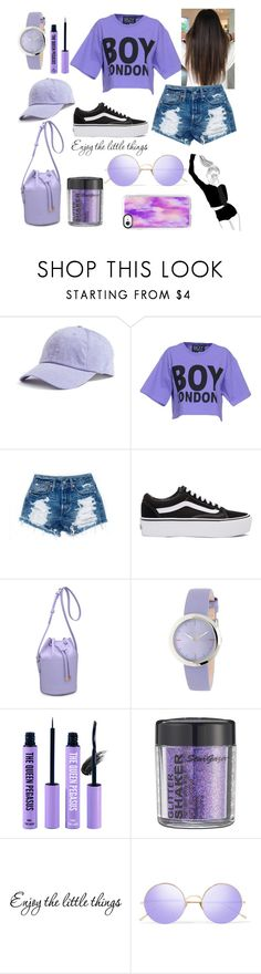 """""""Purple 💜"""" by ariiikay ❤ liked on Polyvore featuring American Needle, BOY London, Vans, Moda Luxe, Furla, The Queen Pegasus, Sunday Somewhere and Casetify"""