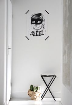 Such a cool print.Batgirl print from BODIE and FOU {Exclusive} — Bodie and Fou - Award-winning inspiring concept store Beautiful Interior Design, Beautiful Interiors, Home Interior Design, Modern Interior, Interior Decorating, Decorating Ideas, Batgirl, Supergirl, Kid Spaces