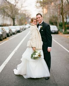 Wedding pics on the streets of dc. Also: holy crap check out that coat!