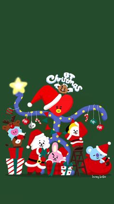 Latest No Cost kpop Christmas Wallpaper Concepts As Yuletide solutions, on the list of favourite points together with many people is beautifying thei Bts Chibi, Anime Chibi, Christmas Lockscreen, Christmas Wallpaper, Chibi Wallpaper, Iphone Wallpaper, Latest Wallpaper, Kpop, Bts Christmas
